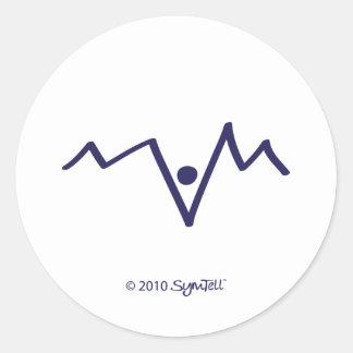 Symtell Purple Helpless Symbol Classic Round Sticker