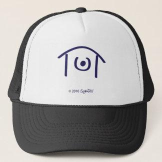 SYmtell Purple Humiliated Symbol Trucker Hat