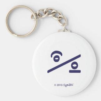 SymTell Purple Indecisive Symbol Key Chain