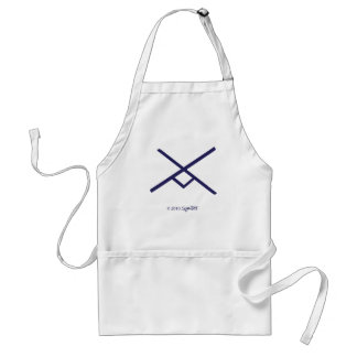 SymTell Purple Industrious Symbol Adult Apron
