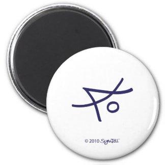 SymTell Purple Liberal Symbol Magnet