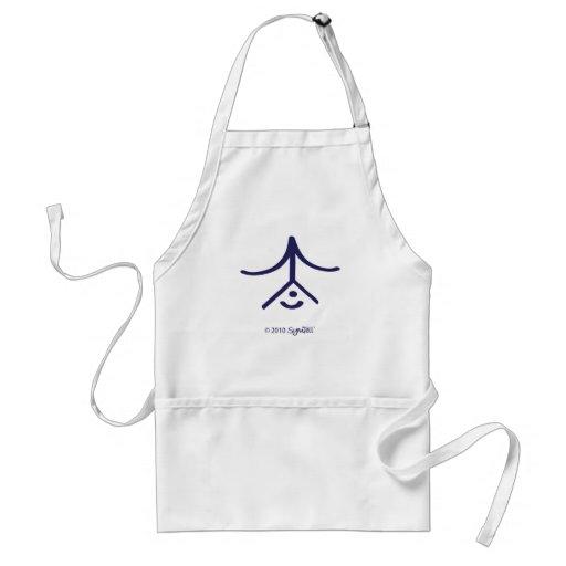 SymTell Purple Protective Symbol Adult Apron