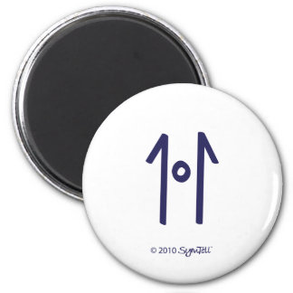 SymTell Purple Rigid Symbol Magnet