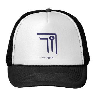 SymTell Purple Secretive Symbol Mesh Hat