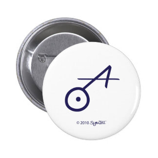SymTell Purple Spontaneous Symbol Pinback Buttons