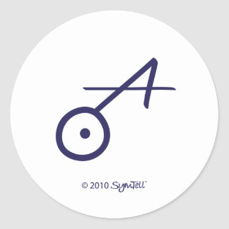 SymTell Purple Spontaneous Symbol Classic Round Sticker