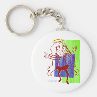 SymTell Red Layered Nice Dancer Key Chains
