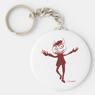 SymTell Red Naughty Dancer Basic Round Button Keychain