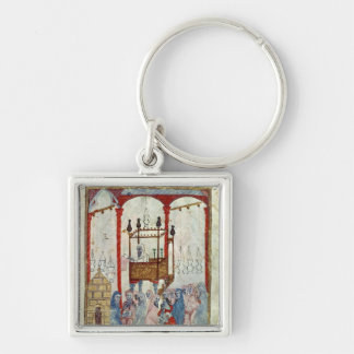 Synagogue, c.1350, Northern Spain Silver-Colored Square Keychain
