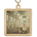 Synagogue, Dukes Place, Houndsditch, from Ackerman Square Pendant Necklace