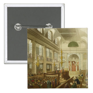 Synagogue, Dukes Place, Houndsditch, from Ackerman Pinback Button