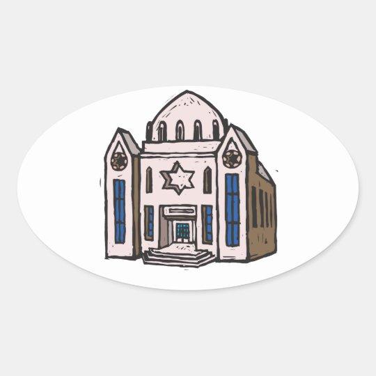 Synagogue Oval Sticker