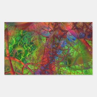 Synapse Rectangular Sticker