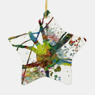 Synapses Medical Abstract Gift Ceramic Ornament