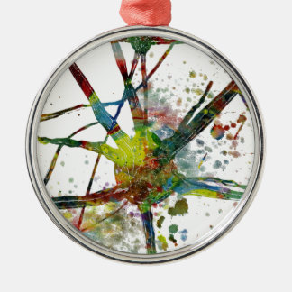 Synapses Medical Abstract Gift Metal Ornament
