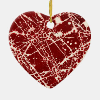SYNAPSES Double-Sided HEART CERAMIC CHRISTMAS ORNAMENT