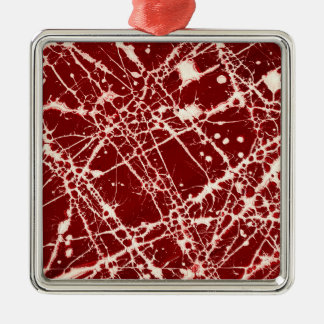 SYNAPSES SQUARE METAL CHRISTMAS ORNAMENT