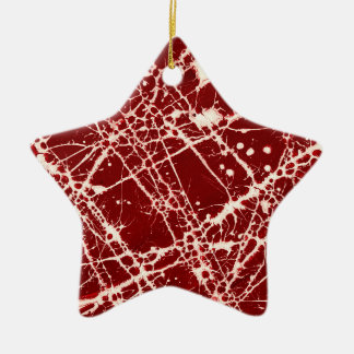 SYNAPSES Double-Sided STAR CERAMIC CHRISTMAS ORNAMENT