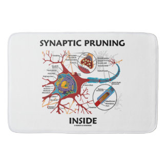 Synaptic Pruning Inside Neuron Synapse Neurology Bathroom Mat