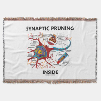 Synaptic Pruning Inside Neuron Synapse Throw Blanket