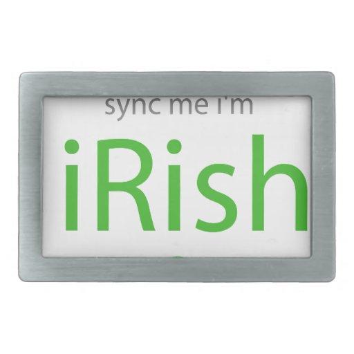 Sync Me I'm iRish.png Belt Buckle