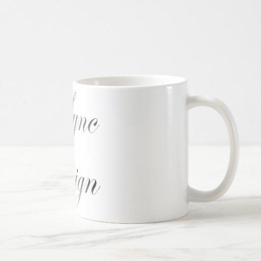 [SyncDesign] flower Font Coffee Mug