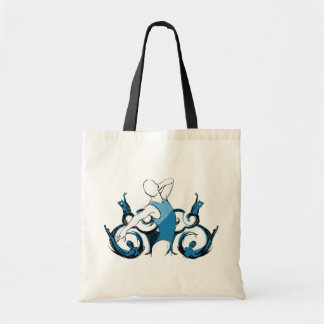 Synch Swimming Illustration Canvas Bags