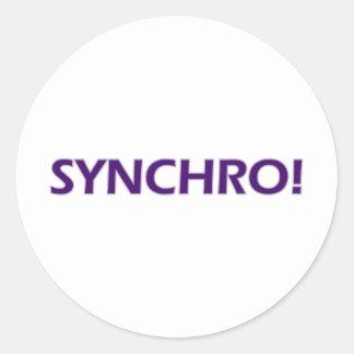 Synchro! Classic Round Sticker