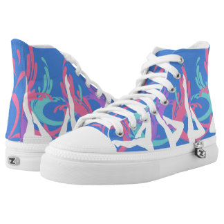 synchro high top printed shoes