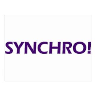 Synchro! Postcard