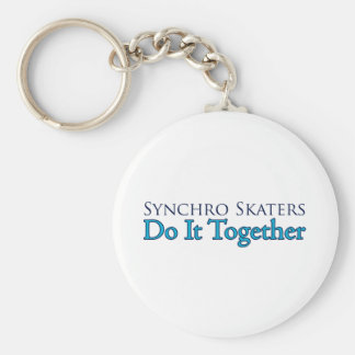 Synchro Skaters Do It Together Basic Round Button Keychain