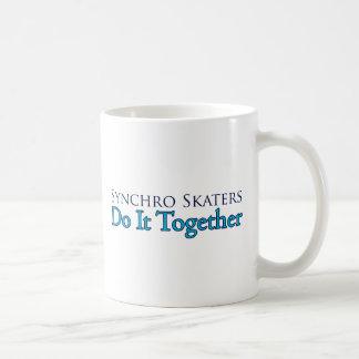 Synchro Skaters Do It Together Coffee Mug