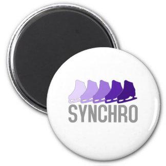 Synchro Skates 2 Inch Round Magnet