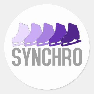 Synchro Skates Classic Round Sticker