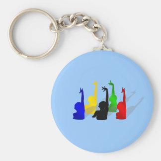 Synchronised swimming Synchronised swimmers Basic Round Button Keychain
