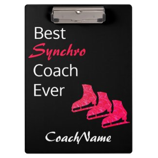 Synchronization skating coach clipboard - red ice