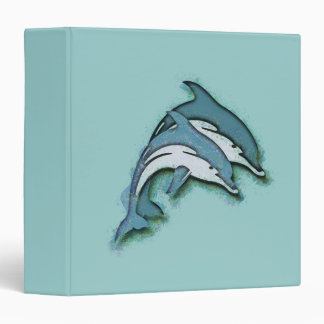 SYNCHRONIZED DOLPHINS 3 RING BINDERS