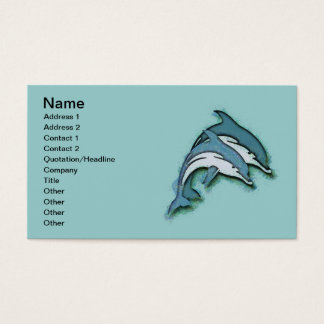 SYNCHRONIZED DOLPHINS BUSINESS CARD