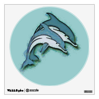 SYNCHRONIZED DOLPHINS ROOM GRAPHIC