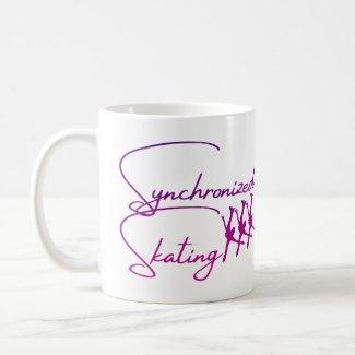 Synchronized skating Mug purple pink calligraphy