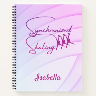 Synchronized skating notebook calligraphy purple