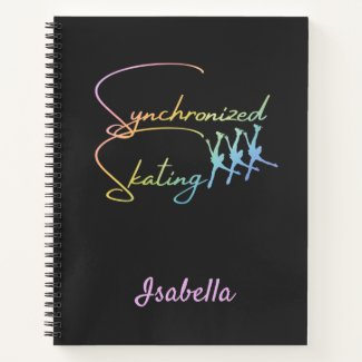 Synchronized skating notebook calligraphy Rainbow