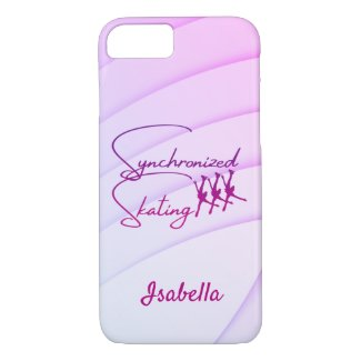 Synchronized skating phone case calligraphy purple