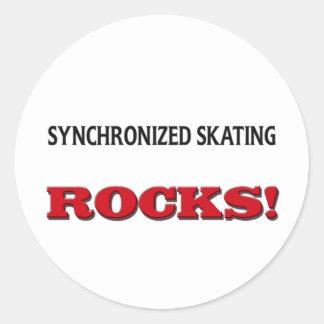 Synchronized Skating Rocks Sticker