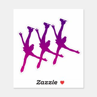 Synchronized Skating Sticker arabesque purple pink