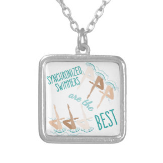 Synchronized Swimmers Square Pendant Necklace