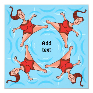 Synchronized Swimming - Card Invitation