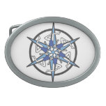 Synchronized Swimming Circle Logo in Blue Belt Buckles