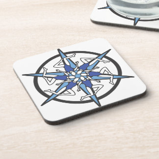 Synchronized Swimming Circle Logo in Blue Drink Coaster