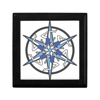 Synchronized Swimming Circle Logo in Blue Keepsake Box